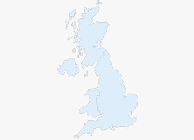 Weather map of England